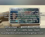 Buy fake ID Kentucky, fake driver's license Kentucky, fake marriage certificate, fake divorce certificate, Fake birth certificate, valid social security number SSN. Buy KY IDs online from sodan fake